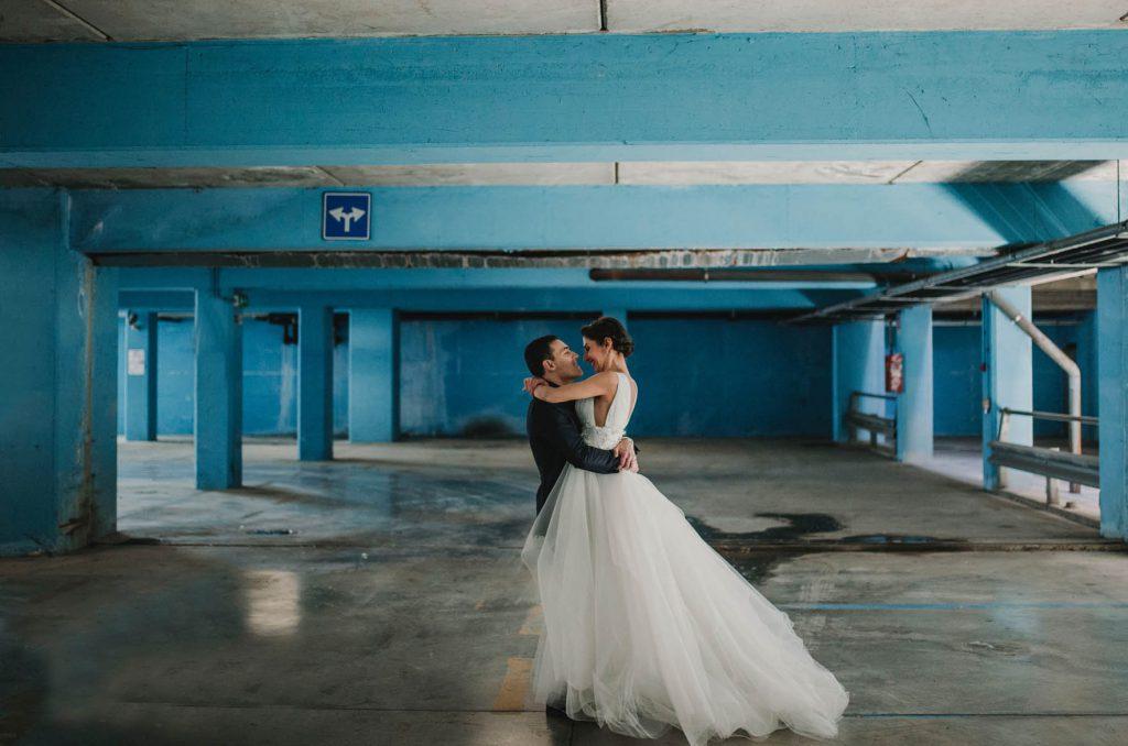 Bild på nygift par