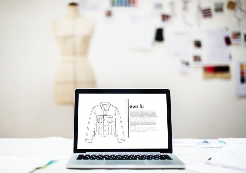 Bild på designad webbplats